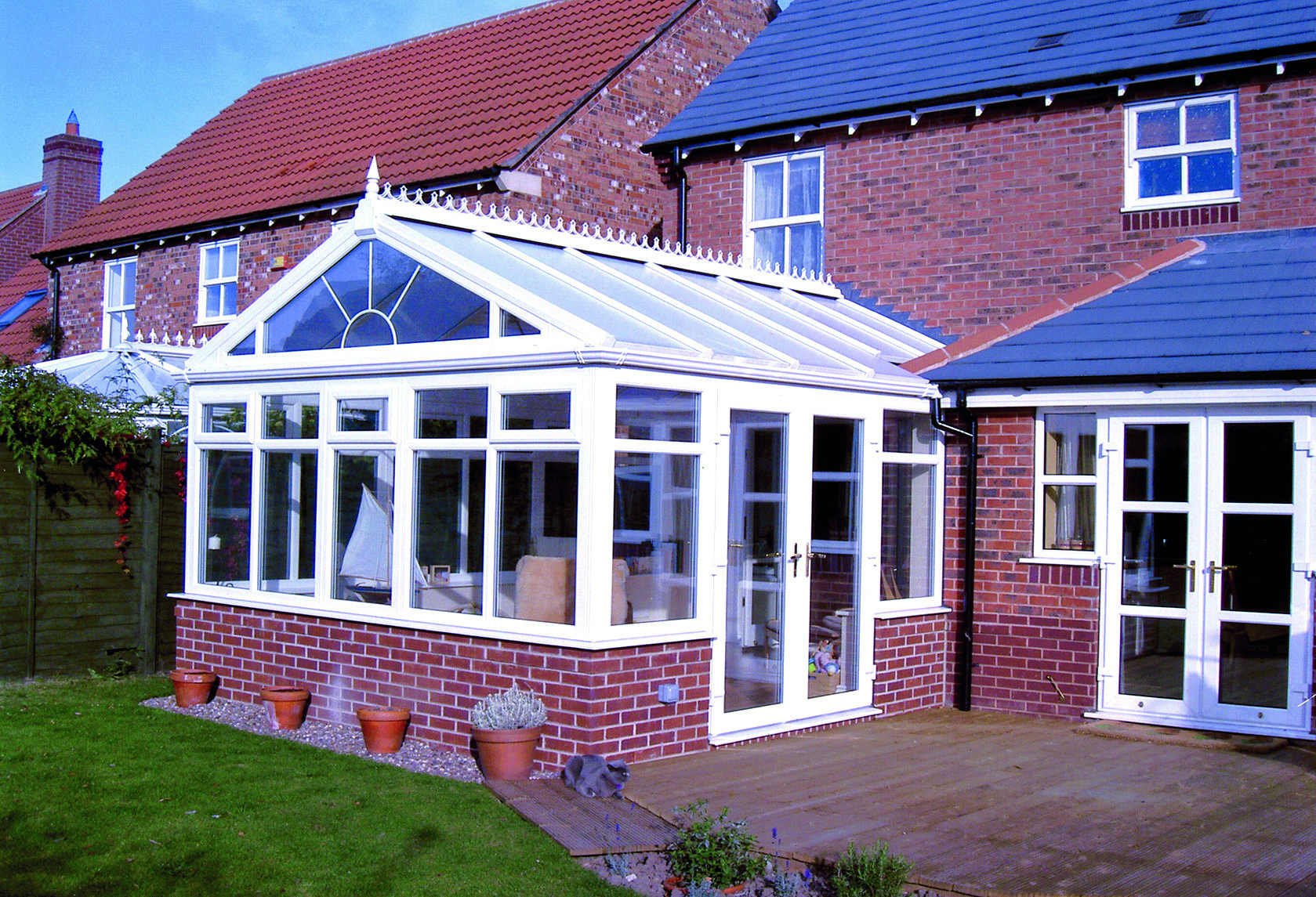 Gable end conservatories amber windows birmingham for Adding a conservatory