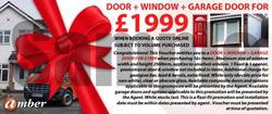 door window garage door voucher