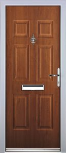 Solid Castleton Door in Light Oak