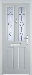 Edale Door in White with Bevel & Lead