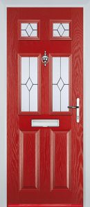 Castleton Door in Red