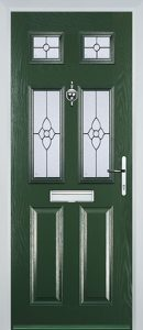 Castleton Door in Green