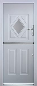 Stable Diamond Door in White