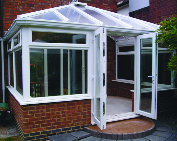 The finished Conservatory matching the CAD drawing