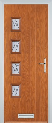 Brussells (H) Door in Light Oak